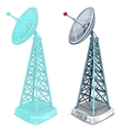 Hologram antenna tower two isolated items vector image vector image