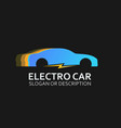 logo of electro car in colorful design vector image vector image