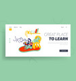 logopedy lesson kid learning to speak correctly vector image