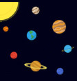 map of the solar system vector image