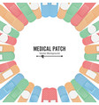 medical patch first aid band plaster strip vector image vector image