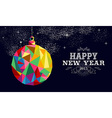 New year 2015 bauble ornament card vector image vector image