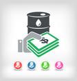 oil price icon vector image vector image
