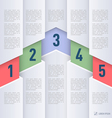 Paper style infographics vector image vector image
