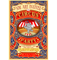 Poster Invite for Circus Party with Elephnant vector image