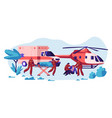 professional rescue team care your life vector image