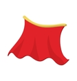 Red cape icon cartoon style vector image vector image