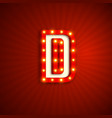 retro style letter d vector image vector image