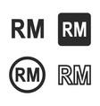 ringgit currency symbol set vector image