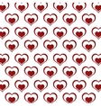 seamless pattern decoration hearts love design vector image vector image