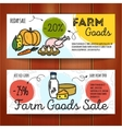 set of discount coupons for farm food vector image vector image