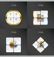 set of presentation template gold bronze vector image