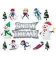 set of winter sport vector image vector image