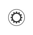 settings solid icon mobile sign and cogwheel vector image