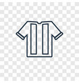soccer jersey concept linear icon isolated on vector image vector image