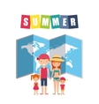 summer holidays enjoy icon vector image