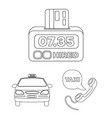 taxi service outline icons in set collection for vector image vector image