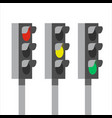 traffic light signals vector image vector image