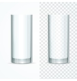 Transparent Glass Set vector image vector image