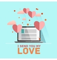 Valentines day Receiving or sending vector image vector image