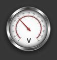 Voltmeter vector image vector image