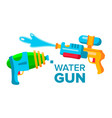 water gun set isolated flat cartoon vector image vector image