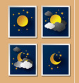 Weather night vector image vector image