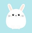 white bunny rabbit icon funny head face cute vector image vector image