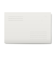 White envelope isolated vector image vector image