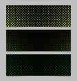 winter pine tree pattern banner template set vector image vector image