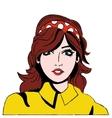 Woman comic face