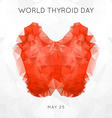 World Thyroid Day Thyroid Solidarity Day vector image