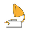color silhouette image old gramophone musical vector image