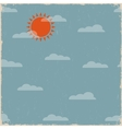 Sky with clouds and sun vector image