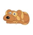 cute dog surprising vector image