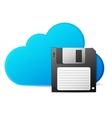 save to cloud concept vector image