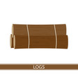 wooden logs isolated vector image