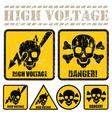 high voltage vector image