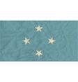 Micronesia paper flag vector image