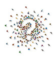 a crowd people in form a question symbol vector image