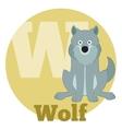 ABC Cartoon Wolf2 vector image