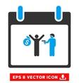 Arrest Calendar Day Eps Icon vector image vector image