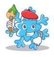 artist snowflake character cartoon style