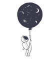 astronaut and space balloon
