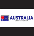 australia travel sign vector image