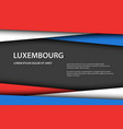 background with luxembourg colors vector image vector image