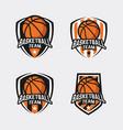 basketball logo template vector image vector image