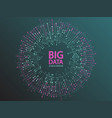 big data visualization concept design vector image vector image