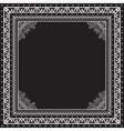 Black and white Bandana print design with borders vector image vector image