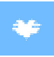 blue sky with white clouds in the shape of a heart vector image vector image